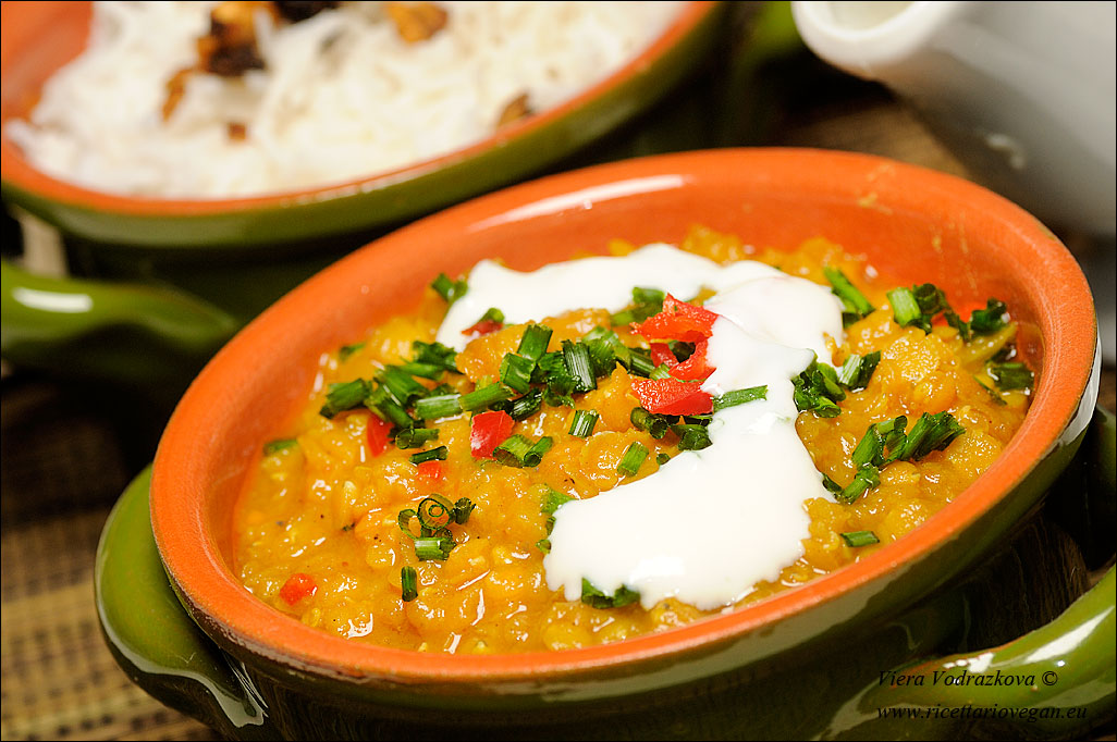 Ricetta Lenticchie Indiane.Masoor Dal Dhal Indiano Di Lenticchie Rosse Ricettario Vegan
